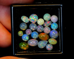 4.50ct Mix size Ethiopian Welo Polished Opal Parcel Lot