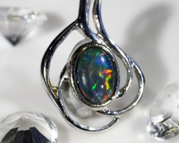 Cute opal triplet in 18k white gold CK  1639