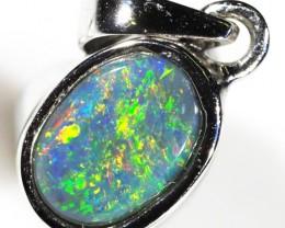Cute boulder opal in 18 k  white gold CK 1636
