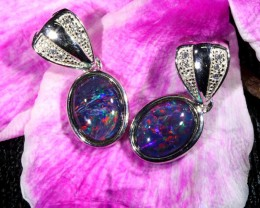 12.40 TWO GEM TRIPLET OPAL T PENDANTS  [SOJ6396]