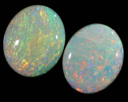 4.40CTS COOBER PEDY OPAL PAIR GREAT COLOUR PLAY  S446