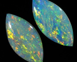 1.84CTS COOBER PEDY OPAL PAIR GREAT COLOUR PLAY  S456