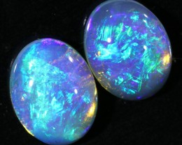 2.68CTS COOBER PEDY OPAL PAIR GREAT COLOUR PLAY  S459