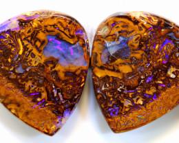 Australian Boulder Opal Pair 77.60cts C-153