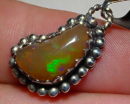13.3ct Natural Ethiopian Welo Opal .925 Sterling Silver