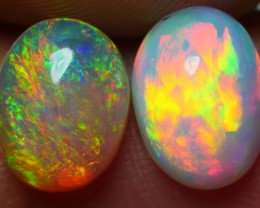 1.80 CRT BRILLIANT PAIR NEON FIRE BEAUTY PLAY COLOR WELO OPAL