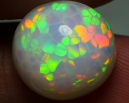 7.20 CRT WONDERFUL MILKY ROUND HONEYCOMB PATTERN WELO OPAL-
