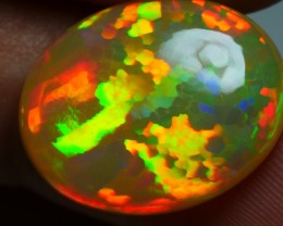 6.40 CRT VERY DELUXE GOLDEN NEON PATCHWORK PATTERN WELO OPAL-