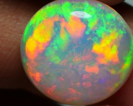 6.00 CRT WONDERFUL ROUND RAINBOW PATCHWORK PATTERN WELO OPAL-