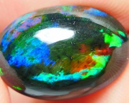 3.50 CRT STUNNING BLUE GREENISH BROADFLASH PATTERN SMOKED WELO OPAL-