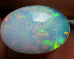 3.05 CRT CRACK MILKY FLAT FACETED FLORAL PLAY MULTICOLOR WELO OPAL-
