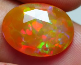 2.95 CRT DARK BROWN FLAT FACETED HONEYCOMB PUZZLE PATTERN WELO OPAL-