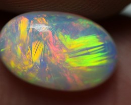 1.00 CRT STUNNING RAINBOW GRASS PATTERN PLAY COLOR WELO OPAL
