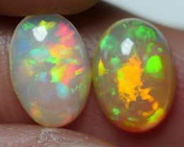 1.60 CRT BRILLIANT PAIR RAINBOW RIBBON PATTERN WELO OPAL