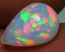 1.55 CRT GORGEOUS MILKY PUZZLE RAINBOW FIRE PLAY COLOR WELO OPAL
