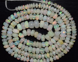 32.85 Ct Natural Ethiopian Welo Opal Beads Play Of Color