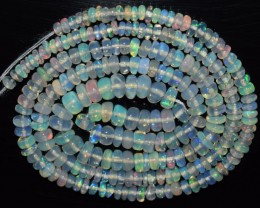 29.95 Ct Natural Ethiopian Welo Opal Beads Play Of Color