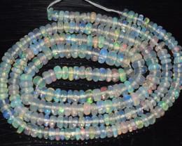 26.25 Ct Natural Ethiopian Welo Opal Beads Play Of Color