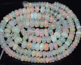 44.25 Ct Natural Ethiopian Welo Opal Beads Play Of Color