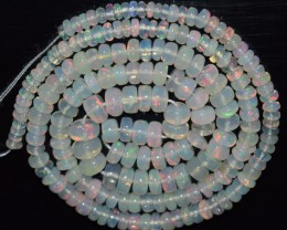 37.70 Ct Natural Ethiopian Welo Opal Beads Play Of Color