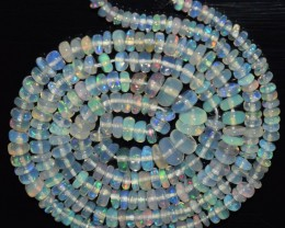 29.35 Ct Natural Ethiopian Welo Opal Beads Play Of Color