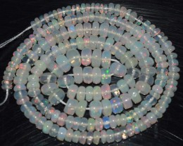 35.85 Ct Natural Ethiopian Welo Opal Beads Play Of Color