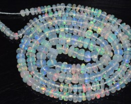 27.55 Ct Natural Ethiopian Welo Opal Beads Play Of Color