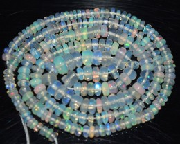 33.30 Ct Natural Ethiopian Welo Opal Beads Play Of Color