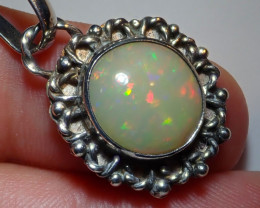 22.42ct Natural Ethiopian Welo Opal .925 Sterling Silver