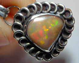 16.16ct Natural Ethiopian Welo Opal .925 Sterling Silver