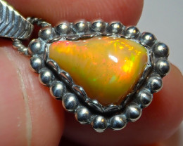 11.6ct Natural Ethiopian Welo Opal .925 Sterling Silver
