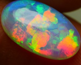 2.15 CRT CRYSTAL CLEAR WELO CHAFF PUZZLE PATTERN MULTICOLOR WELO OPAL