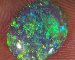 1.5ct 11x9mm Solid Lightning Ridge Dark Crystal Opal [LO-1121]
