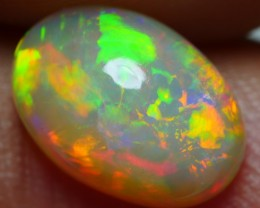 1.80 CRT BRILLIANT GOLDEN ROLLINGFLASH FLORAL FIRE WELO OPAL