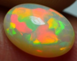 1.85 CRT GORGEOUS RAINBOW PUZZLE PATTERN SPIDER PLAY COLOR WELO OPAL
