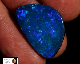 SALE PRICE 15.50 carat Lightning Ridge Doublet opal, stunning blue fire