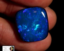 SALE PRICE 19.60 carat Lightning Ridge doublet opal , blue and green fire