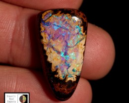 SALE PRICE 20.75 carat Koroit Boulder Opal - Lake of blue and green fire