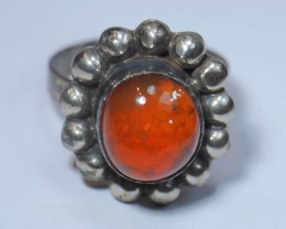 SOLID MEXICAN OPAL HIGH QUALITY .925 STERLING FABULOUS RING