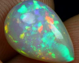 WHOLESALE - 2.15cts Strong and Stunning Broad Multi Fire Ethiopian Opal