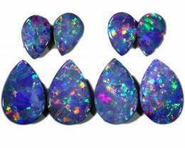 4.06 Cts parcel gem Opal Doublets  Pairs SU1562
