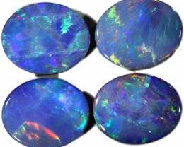 7.69 Cts parcel gem Opal Doublets  Set 4 SU1568