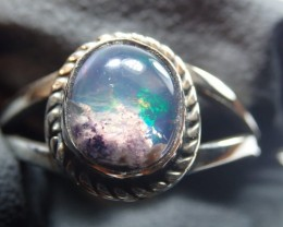 7szRing Solid Opal .925 Sterling