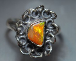Ring Solid Opal .925 Sterling