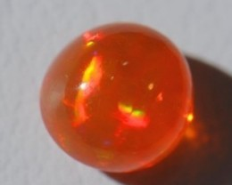 0.8ct BRIGHT MEXICAN FIRE SOLID OPAL