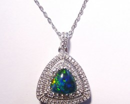 ON SALE was US$125 Pretty Australian Triplet Opal and Sterling Silver Penda