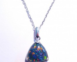 ON SALE was US$125 Bright Australian Triplet Opal and Sterling Silver Penda