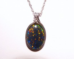 Pretty Australian Opal and Sterling Silver Pendant