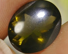 UNTREATED DARK GREENISH FIRE INDONESIAN FACETED OPAL 2.85 CT