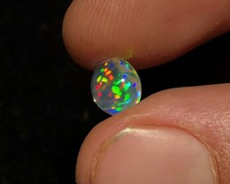 SUPREME!! Laser Rainbow Show :) Mexican 1.17ct Crystal Opal (OM)